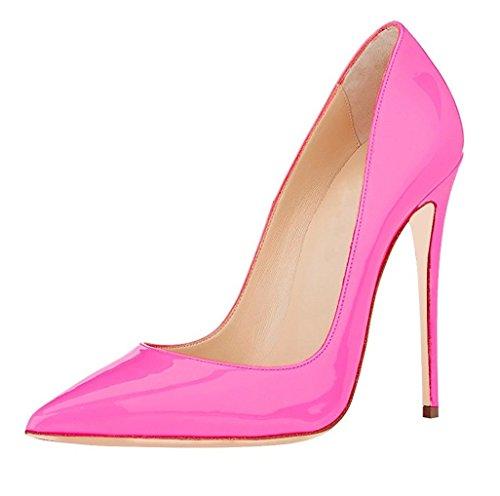 Soireelady Damen High Heels,Cute Stiletto Schuhe,Spitze Zehe Elegant Pumps Pink Große 43 (Cute Heels)
