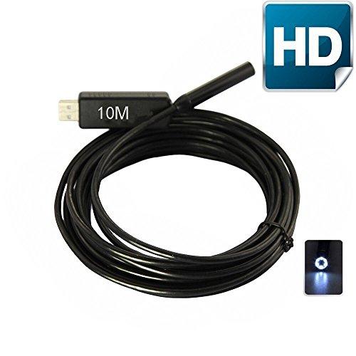 YUMQUA 2,0MP HD 720P Coms LED 6pc USB endoscopio boroscopio
