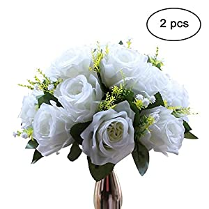 Sziqiqi 2 Piezas Bolas De Rosas, Bolas De Flores con Bandejas, Utilizadas para La Pérgola De Bodas Fiestas, Artículo De…