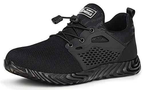 Tqgold Zapatos de Seguridad para Hombre Mujer S3 Zapatillas de Verano...