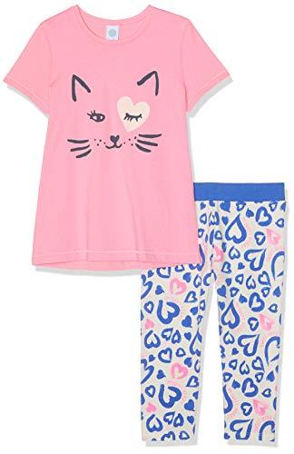 Sanetta Mädchen Pyjama Short Zweiteiliger Schlafanzug, Rosa (Scampi 3950), 98 (Herstellergröße: 098) - Mädchen Lacrosse Shorts