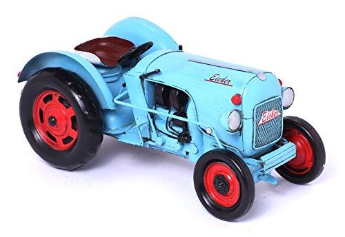 Nostalgie Blechmodel Traktor Eicher ganz aus Metall 26cm (Traktor Sammlerstücke)