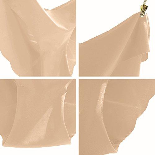 Damen Unterhose Panties von COLLEER, ultra Soft Bequem Nahtlos Alltags Hüftslip Panty Slips aus Baumwolle 3 Pack 3*Hautfarbe