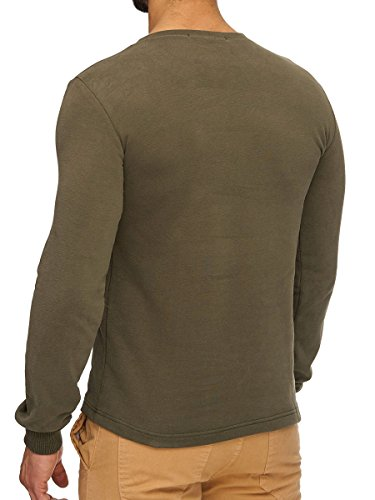 L.A.B 1928 Herren Sweatshirt Pullover Pulli Longsleeve Langarmshirt Shirt Khaki