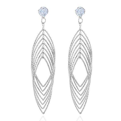 Llian Gold Und Glanz Frauen Schmuck Drop Baumeln Ohrringe Set Diamond Cut Silber Und Gold - Ohrringe Diamond Baumeln