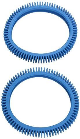 Poolvergnuegen 896584000082 Bleu Standard de 2 pneus arrière de rechange pour épurateur de piscine