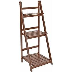 ts-ideen - Mueble para flores estante escalera estantería de pared balcón jardín colorado plegable marrón