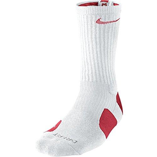 Nike Nike elite Basketball crw smlx White/varsity red/(varsity red, Größe Nike:XL (Nike Elite Kinder-basketball-socken)