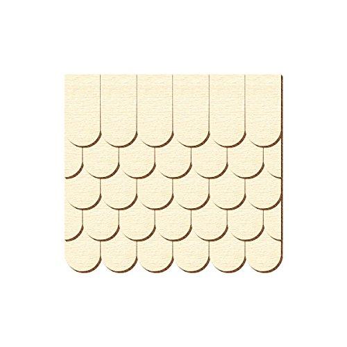 Sperrholz Schindeln - halbrund - Biberschwanz - Größen- und Mengenauswahl, Schindelgröße:20mm x 10mm, Pack mit:500 Stück