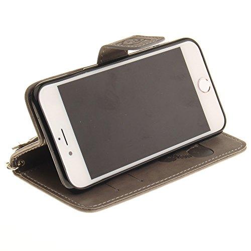 iPhone Case Cover Normallack 3D Netter Panda prägte PU-lederne Fall-Abdeckung mit Lanyand Karten-Schlitzen für IPhone 7 ( Color : 10 , Size : IPhone 7 ) 3