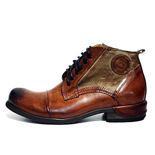 2fce2079874208 Modello Oreto – 45 – Handgemachtes Italienisch Leder Herren Braun Stiefel  Stiefeletten – Rindsleder ...