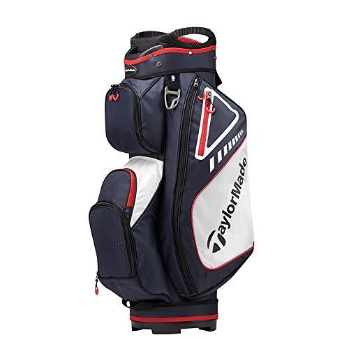 TaylorMade Golf 2019 Select Cartbag, Unisex-Erwachsene, Golf Cart Bag, Navy/Rot/Weiß