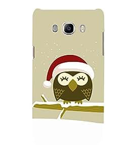 Cute Owl with Santa Cap 3D Hard Polycarbonate Designer Back Case Cover for Samsung Galaxy J7 (6) 2016 Edition :: Samsung Galaxy J7 (2016) Duos :: Samsung Galaxy J7 2016 J710F J710FN J710M J710H