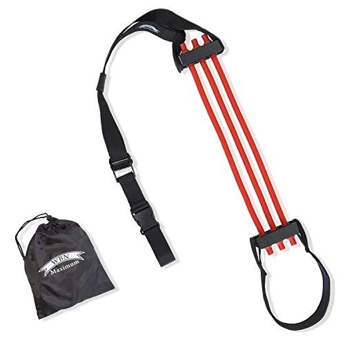 WBN Maximum Klimmzughilfe - Chin Pull Up Assist Band für mehr Klimmzüge - effektives Krafttraining für Starke Schultern, Arme und Rücken (rot)