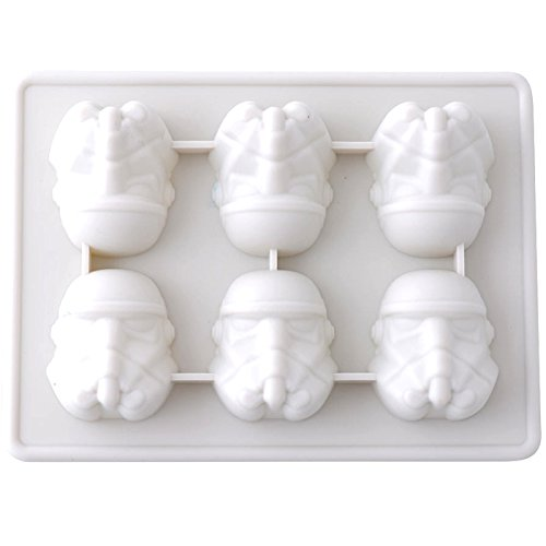 Star Wars Gussformen Stormtrooper - Eiswürfelform 100% Lebensmittelsilikon- BPA frei- FDA-zugelassen | Eiswürfel Schokolade Süßigkeiten Götterspeise | 3D Silikonform Spielzeug für Kinder Set Bayram