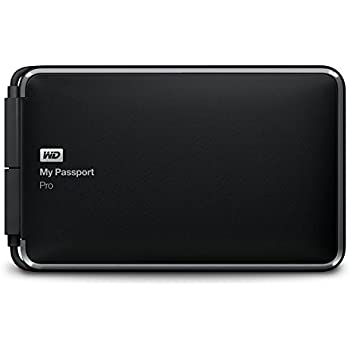 WD 2TB  My Passport Pro - Hard Disk Esterno Portatile - Thunderbolt - WDBRMP0020DBK-EESN