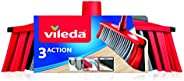 Vileda 142156 3 Action Indoor Floor Broom with Stick