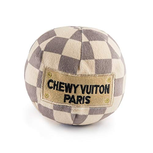 Haute Diggity Dog HDD-007-LG Checker Chewy Vuitton Ball, groß