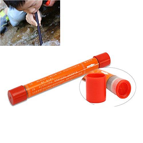 LaDicha Portable 70L Stroh Wasserreiniger Camping Wandern Outdoor Survival Emergency Supplies (Tote Natürlichen Stroh)