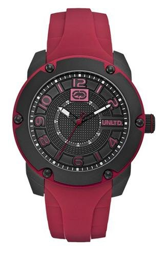 Marc Ecko Men's Quartz Watch with Black Dial Analogue Display and Multicolour Silicone E12527G1