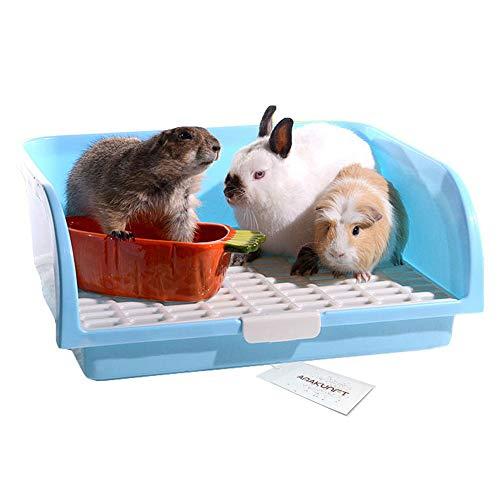 Hongyh pet piccolo ratto wc, quadrato potty trainer corner litter da box pet padella per piccoli animali/coniglio/porcellino/galesaur/ferret (colore casuale)
