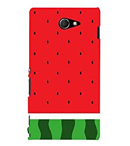 Watermelon Redish 3D Hard Polycarbonate Designer Back Case Cover for Sony Xperia M2 Dual D2302 :: Sony Xperia M2