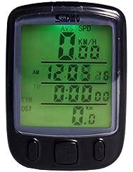 Andux Etanche Ordinateur de vélo,Sans Fil et MultiFonctions-Ecran LCD avec rétroéclairage Compteur de Vitesse Idéal pour Cyclisme CSQ-01
