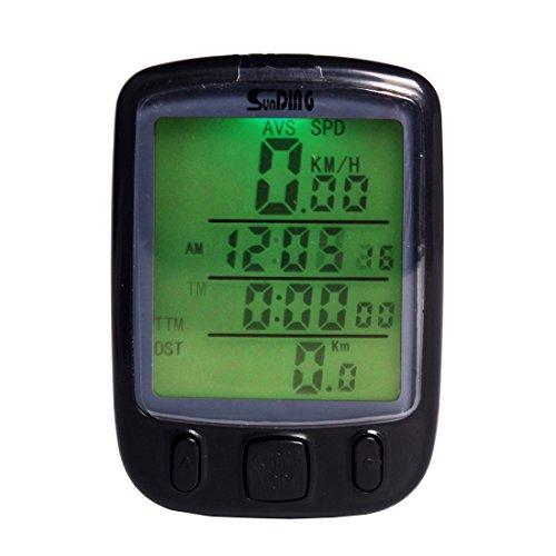 Andux Tachimetro della bicicletta Multifunzione,LCD digitale impermeabile