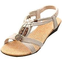 Sandalias Bohemia,Xinantime Sandalias del Verano Romanas Zapatos de Hebilla
