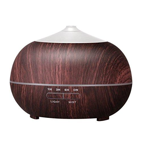 Tenswall 400ml Aroma Diffuser LED Luftbefeuchter Ultraschall Duftzerstäuber Humidifier Ätherisches Öl Diffuser für Babies, Schlafzimmer