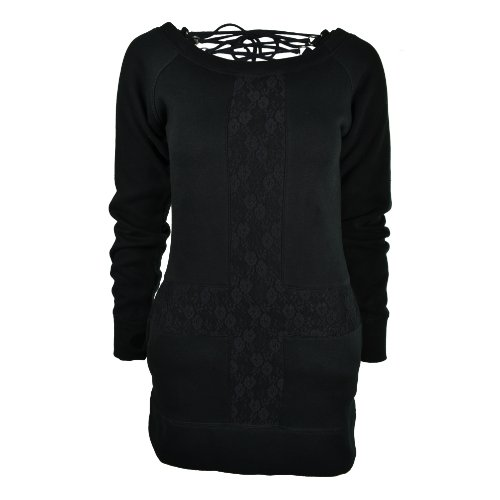 Vixxsin Cross Over Top donna nero Goth Emo licenza ufficiale Black Small