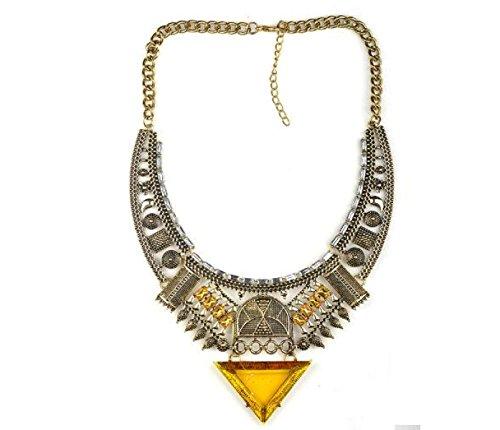 MSNHMU Retro Joyas De La India Collar De Diamantes Triángulo De Egipto 3