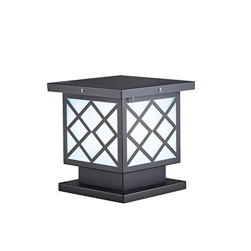 Mogicry Moderno y Simple Cuadrado E27 Columna Faro IP55 Impermeable Valla Decoración Iluminación Aluminio Columna Luz Cristal a Prueba de Lluvia Mostrar Casa Villa Luz de Calle (Color : 25cm)