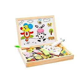 Educativo Bambino Giocattoli Lavagna Magnetica in Legno con contenitore Magnetica Jigsaw Giochi per