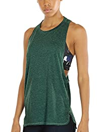 a0ee1f360d icyzone Yoga Tops Activewear Workout Clothes Sports Racerback Tank Tops for  Women