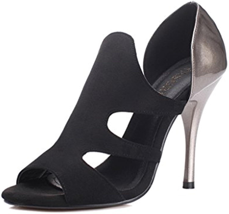 les chaussures femmes femmes femmes mme talons sandales couleurs hollow Noir  banquet des chaussures pour femmes (couleur, taille...b07dkkj743 parent 0d2be6