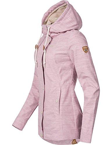 Ragwear Damen Übergangs Outdoorjacke Enrica (vegan hergestellt) Pink Gr. L - 3
