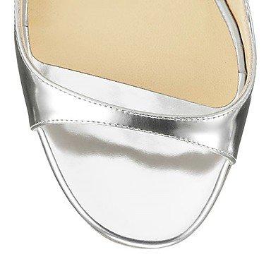 LvYuan Damen-Sandalen-Hochzeit Büro Kleid Lässig Party & Festivität-Kunstleder-Stöckelabsatz-Andere-Silber Gold Marinenblau Silver
