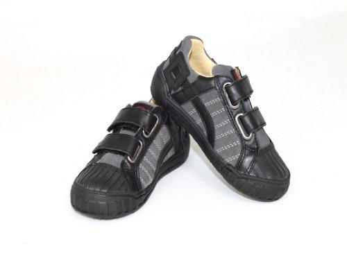 NATURINO Kinderschuhe Jungs Schuhe Halbschuhe Sneaker Shoe MOVIE Schwarz-Grau