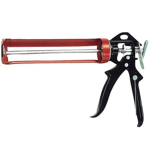 Wolfpack 2320185 - Pistola de silicona profesional, color negro y rojo