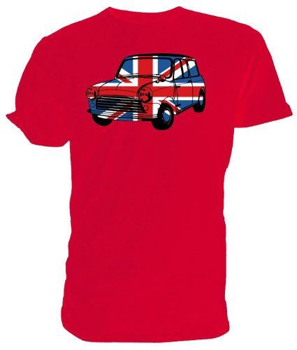 Maglietta con scritta Best of British Union Jack da auto Mini Rosa (rosa)