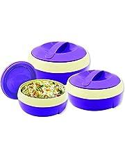Princeware Solar Plastic Casserole Set, 3-Pieces