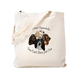 Cafepress – cocker spaniel can' t have Jus – Borsa di tela naturale, tessuto in iuta