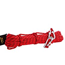 Babimax Cuerda De Rescate Rapel Cuerda Seguridad de Escalada en Roca Soga Agarre Fuerte para Camping, Jardines, Barcos (10 Metros)