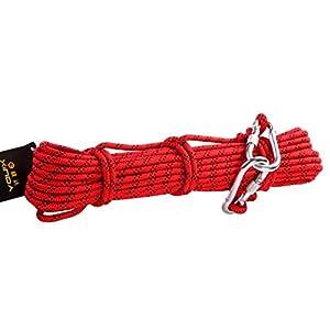 Babimax Cuerda de Escalada Profesional Cuerda de Abreso Excursiones al aire libre Accesorios 8mm de diámetro 9 KN Cuerda de alta resistencia (30 metros)