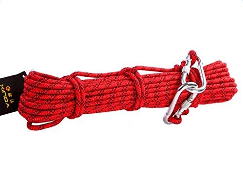 Babimax Cuerda Específica de Escalada Rappel Auxiliar Cuerda de Escape de Seguridad Cuerdas del Alpinismo (15 Metros)