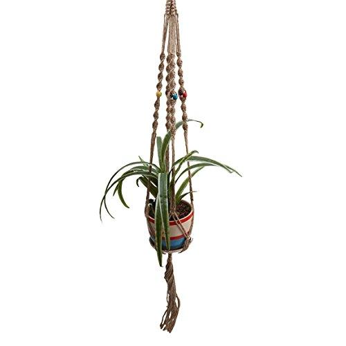 ODN Blumenhänger Pflanzenhalter Hänger Pflanzhänger Topfhänger mit Bunt Beads