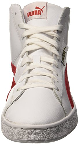 Puma 1948 Mid L, Baskets Basses Mixte Adulte Bianco/Barbados Cherry