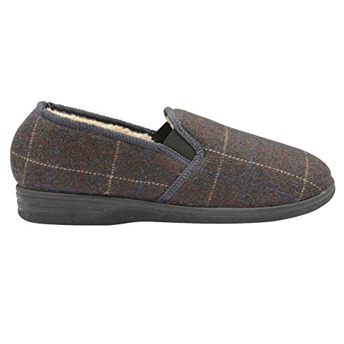 The Little Shop of Shoes Amauri, Pantofole uomo Grigio Grey Check 44 Grey Check