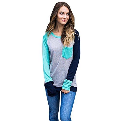 Kavitoz Clearance! Women Autumn Casual O Neck Plus Size Long Sleeve Tops Blouse T Shirt